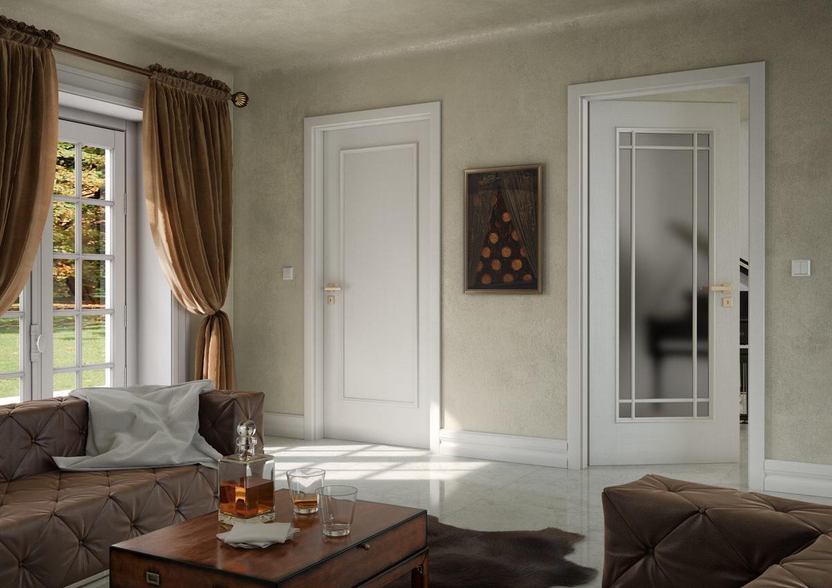 Visualisation 14 bergamo color white smooth