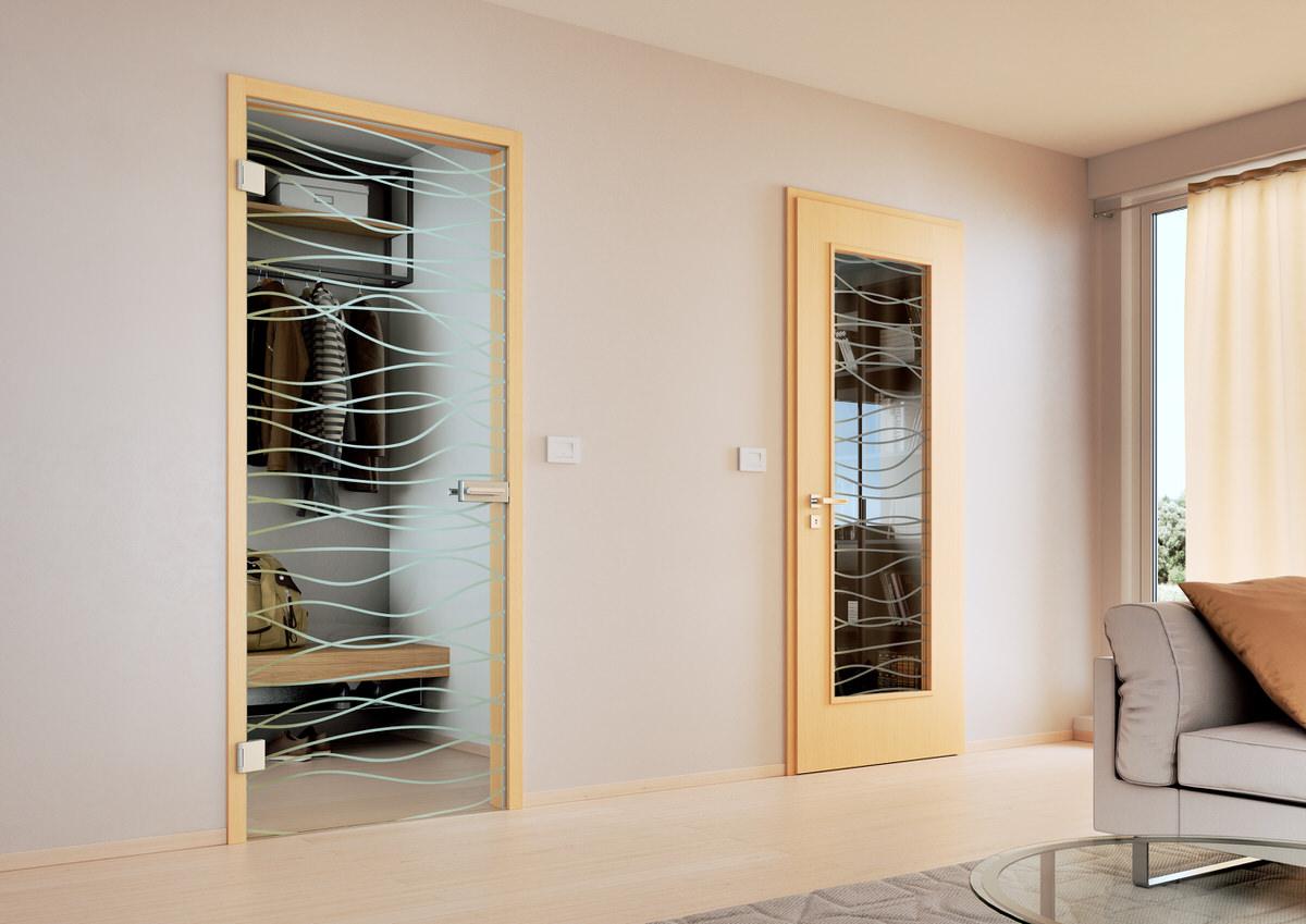 Skleněné dveře Sapeli, Sapglass, float, čiré