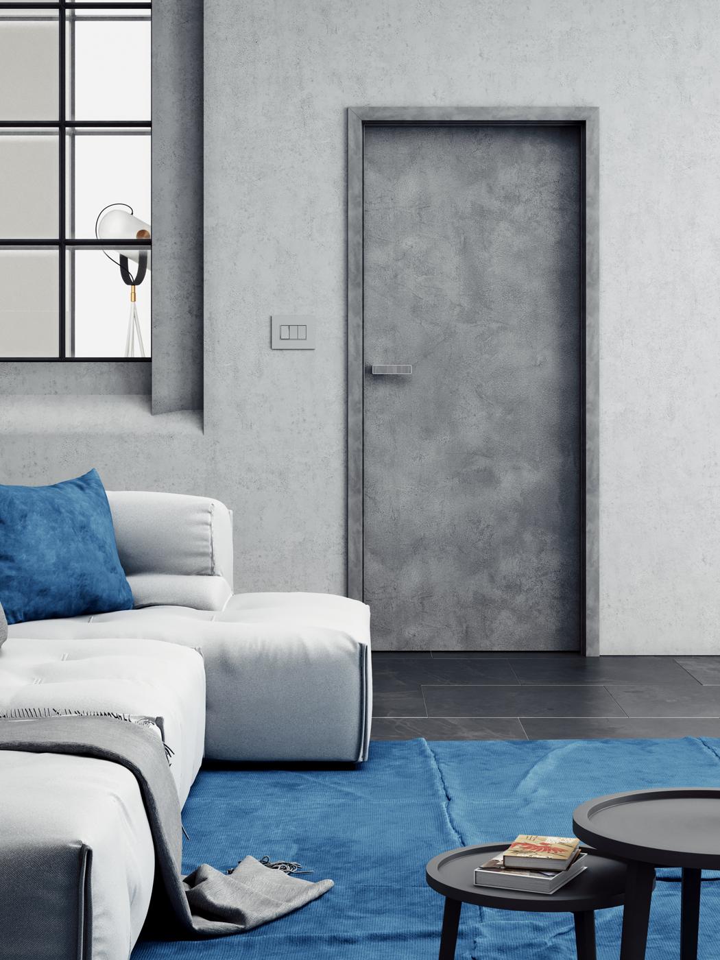 Interiérové dveře SAPELI ELEGANT 10 - dekor CPL beton šedý