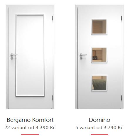 Bílé dveře SAPELI lakované barvou