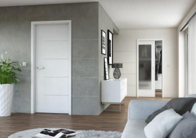Interiérové dveře SAPELI Lotos 13 - dekor barva bila hladká premium