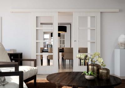 Interiérové dvoukřídlé dveře SAPELI Mera 44 - dekor lesk bílá