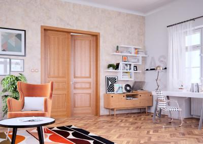 Dřevěné interiérové dveře SAPELI BERGAMO 28 - dvoukřídlé