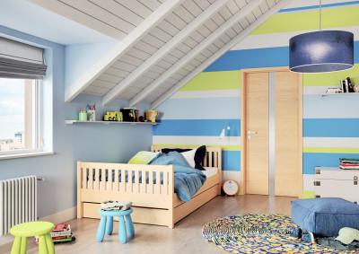 Dřevěné interiérové dveře SAPELI HARMONIE 82 - prosklené, dekor dub nautr
