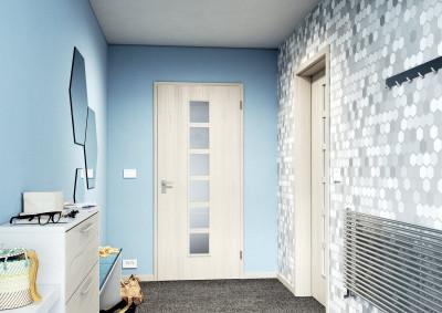 Interiérové dveře SAPELI MERA 56 - prosklené