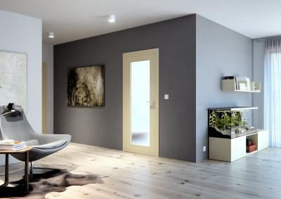Interiérové dveře SAPELI REDE 43 - prosklené, bezfalcové