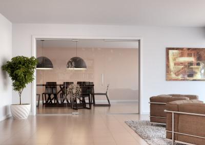 Skleněné stěny, skleněné dveře, Sapeli, Sapglass, float, kyvné