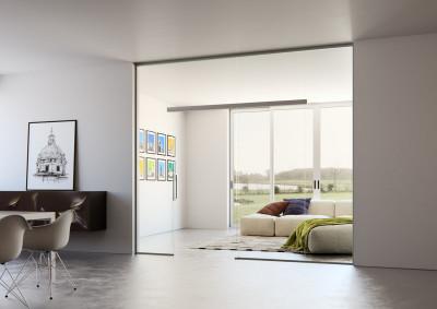 Skleněné stěny, skleněné dveře, Sapeli, Sapglass, float, posuvné