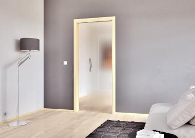 Skleněné dveře Sapeli, Sapglass, satendekor, posuvné do pouzdra