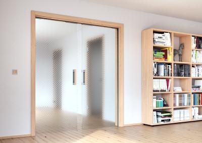 Skleněné dveře Sapeli, Sapglass, satendekor, dvoukřídlé