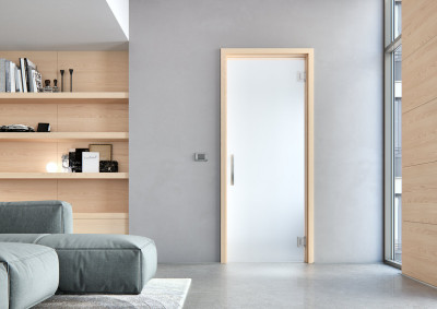 Skleněné dveře Sapeli, Sapglass, satinato