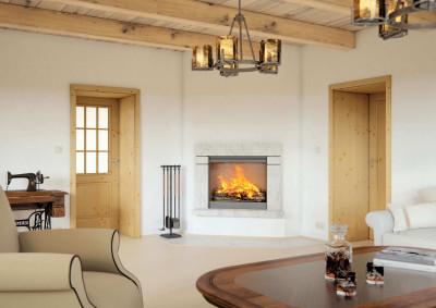 Dřevěné interiérové dveře SAPELI BERGAMO 32- prosklené, dekor smrk