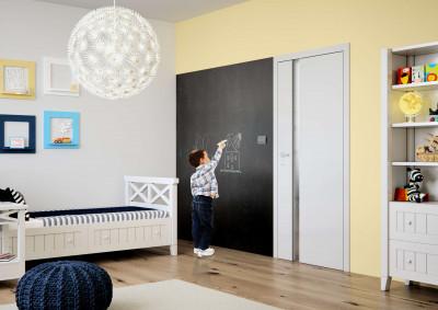 interior non-rebated door SAPELI HARMONIE 83 - Finishes CPL smooth white
