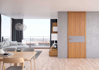 interior non-rebated door SAPELI TENGA 28 -Finishes veneer white teak