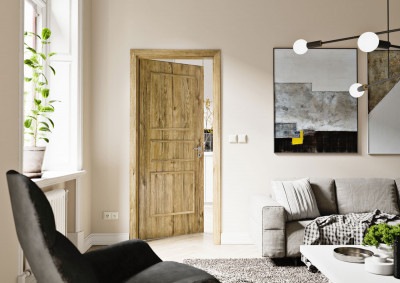 Interior door SAPELI Bergamo 28- finishes CPL oak sherwood structured