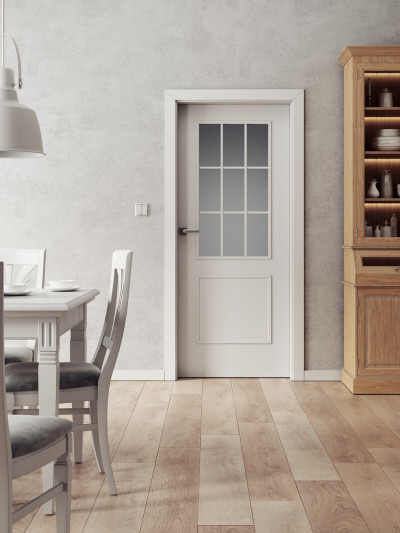 Interior door SAPELI BERGAMO 32 - material Varnished with paint plain white premium