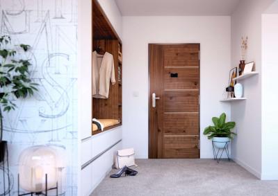 Bezpečnostní dveře do bytu SAPELI ALEGRO 15 - dřevěné, protipožární