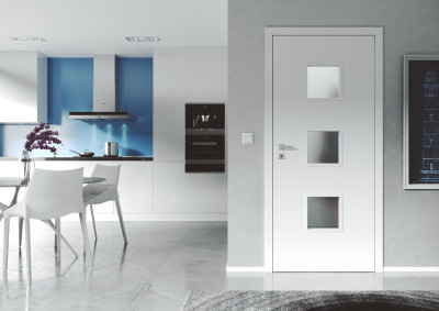 Interiérové bezfalcové dveře SAPELI DOMINO 63- dekor barva bílá hladká komfort