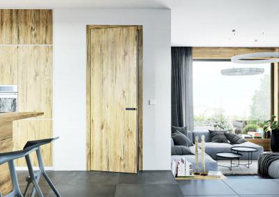 Bezfalcové interiérové dvere SAPELI Elegant 10 - dekor dub sherwood štruktúr