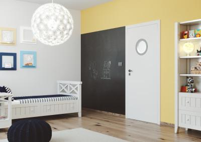 Interior non-rebated door SAPELI SAPELI ELEGANT 71- finishes Plain white Comfort
