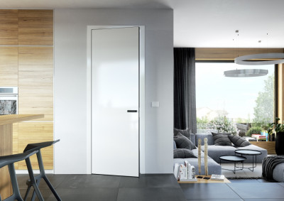 interior non-rebated door SAPELI ELEGANT 10 - Plain white Premium