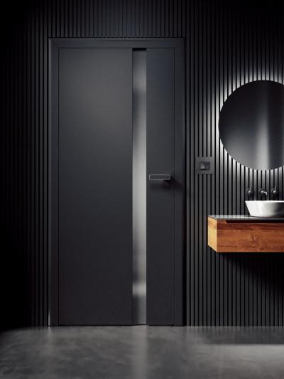 interior non-rebated door SAPELI HARMONIE 83- material Laminated graphite black