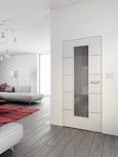 Interior door SAPELI LOTOS 54 - material Varnished with paint plain white premium