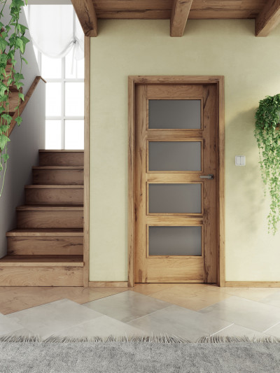 Interior door SAPELI SWING 49 - material veneer Timber oak