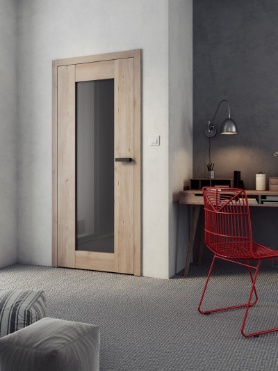 interior non-rebated door SAPELI TALIA 40 - material Laminated structured beech