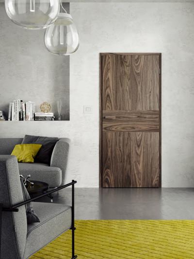 Interiérové dvere SAPELI TENGA 28- dekor dyha orech natur