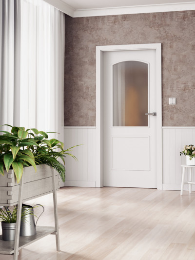 Interior door SAPELI VENECIA 30 - material Varnished with paint plain white premium